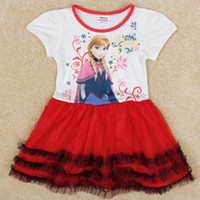 Wholesale frozen anna kids dress girls party dress nova christmas gifts for children toddler pageant dress baby fashion clothes H5218