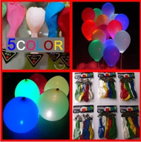 Wholesale New Arrival LED Luminous Balloons LED Balloon Light Flashing Balloon Light Up Balloon Christmas Halloween Wedding Festival Decorative Lights