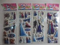 Wholesale 2014 FROZEN Children bubble stick Cartoon stickers stickers toys Frozen Wall Stickers Home Décor Students of stickers Cartoon wall stickers