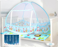 Children Crib Circular Kid Mosquito Net For Bed ,Cute Blue and Yellow Color,Cheap Price,Toddler Bed Crib Canopy Netting,Classical Kawaii Pattern Design