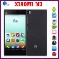 Wholesale Original Xiaomi Mi3 WCDMA Qualcomm Quad Core Xiaomi M3 Mobile Phone GB RAM GB ROM quot Miui V5 p mp Camera NFC GPS