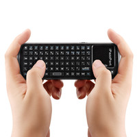 iPazzPort 2.4G RF mini palmare wireless Touchpad Keyboard con luci a LED Smart Remote TV / PC C1644