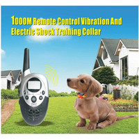 Wholesale 1000M Remote Control Vibration And Electric Shock Training Collar for Traning Two Dogs E613a
