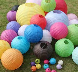 Wholesale cm quot Chinese round paper lantern wedding lantern festival decoration FG06006