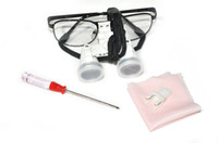 No Black 3.5X420MM FDA NEW Dental CARE Surgical Binocular Loupes 3.5X 420mm Optical Glass Loupes