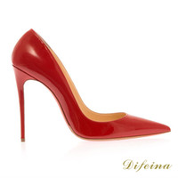 Women Pumps Spring and Fall Online Shopping Fashion Woman Red Wedding Shoes Shallow Mouth Pointed Toe Cheap Shoes High Heel 12CM Large Size Cheap Heel