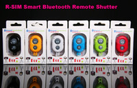 Wholesale Wireless Bluetooth Remote Camera Control Self timer Shutter for Iphone S S C Galaxy S5 S4 Note HTC IOS Android smart cell phone