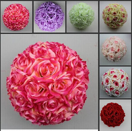 """New Arrival 6"""" 15 CM Artificial Rose Silk Flower Kissing Balls Christmas Ornaments Birthday Wedding Party Decorations Supplies"""