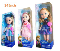 Unisex 5-7 Years Plastic Frozen Princess 14 Inch Frozen Doll With music frozen doll frozen elsa and frozen anna good girl frozen toys in box baby toy musical toys