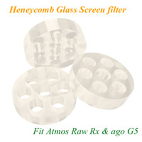 herbal vaporizer filter - Heneycomb Glass Screen filter for atmos raw junior rx mini ago g5 snoop dogg dry herb atomizer electronic cigarette herbal vaporizers pen