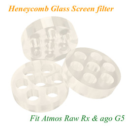 Wholesale Heneycomb Glass Screen filter for atmos raw junior rx mini ago g5 snoop dogg dry herb atomizer electronic cigarette herbal vaporizers pen