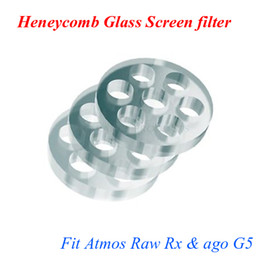Wholesale Heneycomb Glass Screen filter for atmos raw junior rx mini ago g5 snoop dogg dry herb atomizer electronic cigarette herbal vaporizer pen