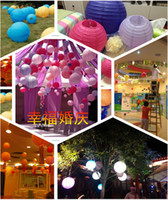 Mix Colour 12 inch 30cm Round Chinese Paper Lantern for Birt...