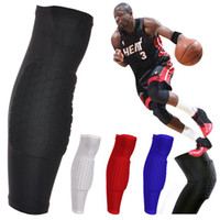 Elbow & Knee Pads high quality soft & elastic polyester fa Yes Wholesale-407-M 1Pair 2pcs Adult Honeycomb Pad Crashproof Antislip Basketball Protect Leg Knee Long Sleeve Free Shipping
