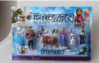 Wholesale Frozen PVC action Figure Play Set of Anna Elsa Hans Kristoff Sven Olaf kid s gift toy