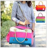 Wholesale Colors size High Quality Pet Dog Cat Carrier Bag Portable Backpack Folded Bag Single shoulder bag Totes Mix Order