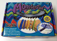 Wholesale Free DHL Rainbow loom monster tail monstertail kit Twistz DIY rubber Silicone wrist bands bracelet bands S C chips hook shell