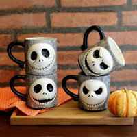 ECO Friendly cupping set - Novelty Ceramic Coffee Cup and Mug Funny Office Drinking Cup Tim Burton s The Nightmare before Christmas Creative Drinkware set SK002