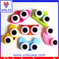 Wholesale Cute Lovely Big Eye Owl Frog Animal Shape Storage Contact Lens Box Case Holder