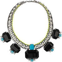 Wholesale Min Order Is High end European Glam Rock Show Models Fluorescent Color Pearls Collar NecklaceBL3224