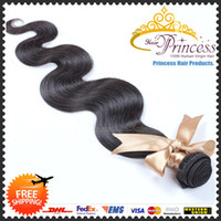Wholesale 6A Brazilian Peruvian Indian Mongolian Virgin Bundles Hair Weaves Human Hair Hair extensions Body Wave Natural Black