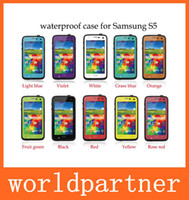 Wholesale Redpepper Waterproof Shockproof Hard Plastic Soft TPU Case Cover for Samsung Galaxy S5 I9600 with Retail Package High Quality