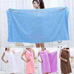 Wholesale Womens Shower Towel Body Wrap Bath Robe Bathrobe Magic Spa Beach Dress Swimwear washclothes Nx111
