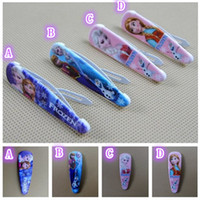 Wholesale New Frozen elsa anna Girl babys Headwear Female Hair clips air Accessory Wafer Side knotted Doll accessories Children s Clip Hairpin
