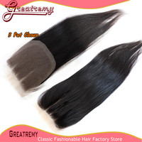 3 Way Part Lace Top Closure(4x4) Hairpieces Brazilian Peruvi...