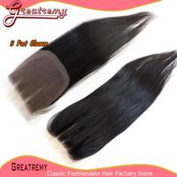 3 Way Part Lace Top Closure(4x4) Hairpieces Brazilian Peruvi...