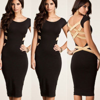 Wholesale Details about Sexy Women Lace Short Sleeve Slim Fashion Bodycon Party Cocktail Evening Dress