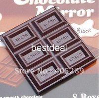 Wholesale NEW Creative cute Chocolate make up Mirror portable pocket cosmetic mirror Pocket mirror Fashion Gift