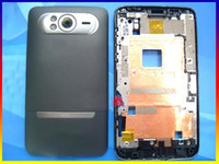 Wholesale Gray Original complete full housing Cover Case door buttons with logo for HTC HD7 T9292