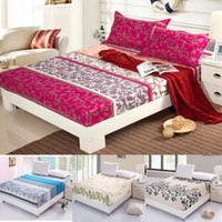 Wholesale 100 cotton Korean New Printed Queen size Fitted sheet Mattress cover Crib Sheet Bedding cover cotton bed linen style