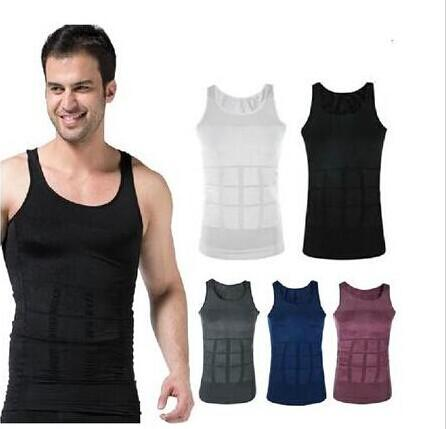 2017 Slim Vest Mens Slimming Lift Shirt Weight Shaping ...