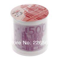 Toilet Tissue Mix Wood Pulp 2 Ply Free Shipping Wholesale 100Pieces Money EURO Toilet Roll - Euro 500 Bill Toilet Paper Novelty Euro Toilet Tissue
