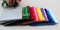 Wholesale Fashion Hot cm Satin Solid Square Handkerchief Hanky Napkin Banquet Wedding Party