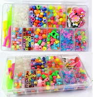 Wholesale Christmas gift Rainbow loom accessory loom kit hook pendant s clip c_clips butterfly plum blossom shape loom beads letter bead UV beads
