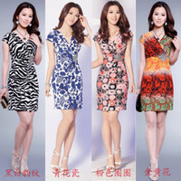 Wholesale 2014 New Fashion Women Elegant Folds Slim Fit Sleeveless Mini Cocktail Vest Bodycon Dress Leopard Print dress Flora women Work dress