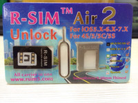 Wholesale Newest Original R SIM air RSIM air2 RSIM air Unlock for iphone S C S iOS6 X X Support US iOS Sprint AT amp T T mobile Crick
