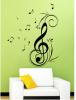 art and music - Dancing Music Note Wall sticker waterproof and removable vinyl for home decoration Wall Art