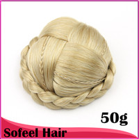 Wholesale 8 colors cute Knitted Hair Chignon Donut Roller Hairpieces Synthetic Hair pc