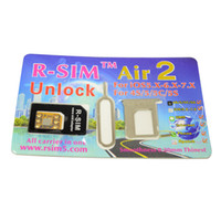 Wholesale R SIM Air2 Unlock Card IOS x x R Sim RSIM Air Unlock for iPhone iPhone iPhone C iPhone S via DHL fast shipping