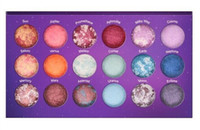 palette 18 color - New makeup color galaxy chic baked eyeshadow palette