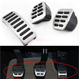 Wholesale STAINLESS STEEL CLUTCH BRAKE ACCELERATOR MT PEDAL FOR VW GOLF JETTA MK4 BORA POLO BEETTLE