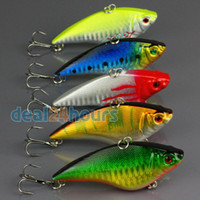 Wholesale 5pcs Fishing Sinking VIB Lure Vibration Rattle Hook Crankbait Baits g cm quot
