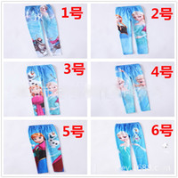Leggings & Tights Girl Spring / Autumn 6 STYLE baby girls frozen leggings princess Elsa Anna long pants spring autumn children tights snow queen cosplay pants trousers 6pcs lot