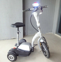 Wholesale Upgraded Wheels Electric Tricycle scooter Mobility Bike Bicycle Motorcycle w brushless motor Green personal transporter