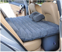 car parts auto accessories - Inflatable car bed for back seat auto parts PVC car back seat mattress air bed for slepping travel cushion with pillows