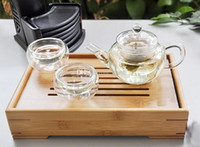 Wholesale New Arrive ml Glass Teapot Tea pot Easy Use Tea Set For Make Flower Tea And Coffee
